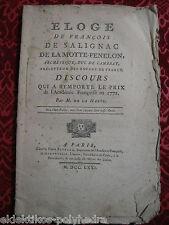 1771/ Éloge de F de Salignac de la Motte-Fenelon / M. de la Harpe