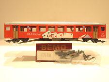 BEMO 3271 456 Personenwagen/Servicewagen der SBB, Brünig-Jass, 2.Klasse, TOP OVP