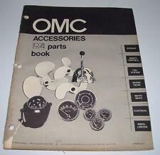 Parts Catalog OMC Accessories Zubehör Ersatzteilkatalog Steering Instruments ´73