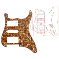 Electric Guitar Pickguard Cinnamon Pearl 3 Ply 11hole HSH for Fender Strat Parts
