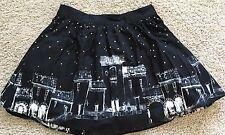 BOOK OF LIFE Rockabilly CIRCLE SKIRT HOT TOPIC  XL BLACK Starry Skirt NWT
