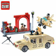 ENLIGHTEN CombatsZone Military Hummer Truck Fighter Blocks Minifigures Toys