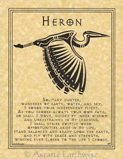 HERON PRAYER POSTER A4 SIZE Wicca Pagan Witch Goth BOOK OF SHADOWS