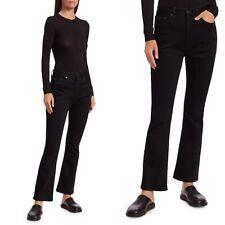 The Row Women's Sz 4 Hugo High-Rise Straight Jeans in Black Stretch Denim
