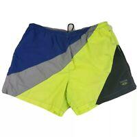 Vtg Nautica Competition Mens 3XL Board Shorts Swim 90s Color Blocking