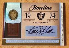 Ken Stabler 2006 Playoff National Treasures Timeline Auto #6/7 Autograph MVP