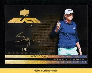 2014 Exquisite Collection UD Black Spectrum Gold 1/5 Stacy Lewis #8 Auto READ