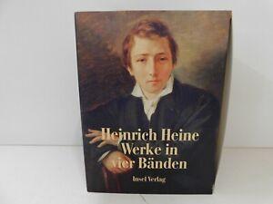 Heinrich Heine Werke in 4 Bänden Insel Verlag