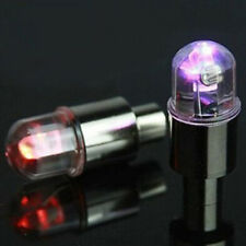 2*Universal MULTI-COLOR LED Wheel Tyre Tire Air Valve Stem Cap Light Lamp Bulb