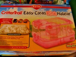 Kaytee Critter Trail Easy Clean Pink Habitat - for Hamsters, Gerbils NOS