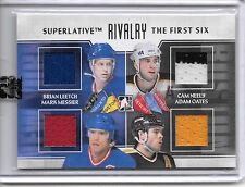 2013-14 Superlative The First Six MESSIER LEETCH NEELY OATES QUAD JERSEY SP /19!