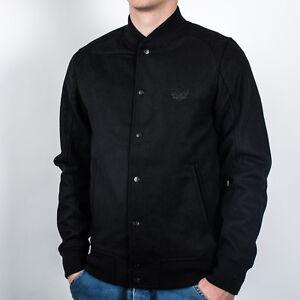 K1X Monochrome Varsity Jacket men NEW 1161-1102-0001 black