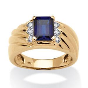 24K Yellow Gold Natural ruby & Diamond Gem Stone Men's Engagement Ring