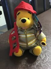 Winnie the Pooh Fireman soft toy - Part of a collection. Brand new with tags