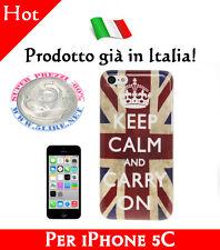 OFFERTA Cover Bumper Case Custodia iPhone 5C modello bandiera UK Keep Calm