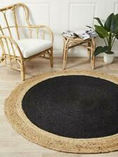Home Decor Jute Carpet Braided Natural Rag Rugs Floor Area Handcrafted Round Rug