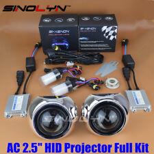 Automobiles 2.5'' HID Bi-xenon Projector Lens Kit For Headlight Retrofit DIY