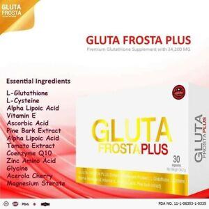 Gluta Frosta Plus Glutathione Blanchissant 1000mg , Anti Âge 30 capsules