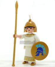 PLAYMOBIL Guerriero Greco Antico Figura di guerra soldato romano Casco d'Oro accessori