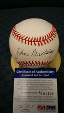 "John""Red""Barkley autographed NL White baseball. PSA authenticated."