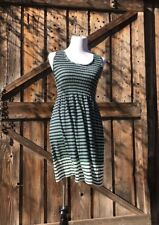 NWT Max Studio Navy Blue Green and White Striped Dress Size Small