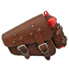 Harley-Davidson Sportster Cuir Gauche Solo Sacoche Panier Rouge Bouteille