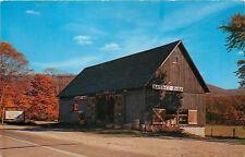 Manchester VT~Basket Barn~Woodenware~Buckets~Rattan Furniture~1950s Postcard