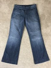 Citizens Of Humanity Size 27 COH Wide Leg Jeans Double Snap Buttons Flap Pockets