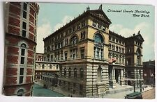 Criminal Courts Building New York City NYC Postally Unused Divided Back Postcard
