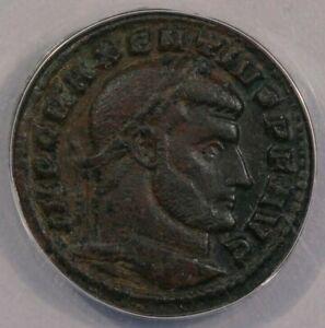 309 AD Roman Empire AE Follis Maxentius ANACS VF35 b-12