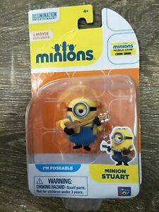 BNIB NEW MINIONS Minion Stuart FIGURINE Present Toy Childrens Kids Movie Film