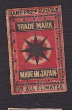 Ancienne étiquette  Allumettes Japon BN121518 Etoile