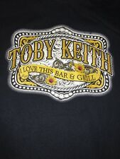 Toby Keith : I Love This Bar & Grill T Shirt Large Size ( L ) Black See Meas. C2