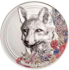 MONGOLIA 2018 1 Oz PROOF Silver 500Togrog WOODLAND SPIRITS FOX Coin.