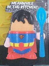 DC Comics Superman Egg Cup Holder Shaped Toast Cutter Boys Men's Novelty Gift