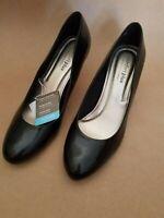 COMFORT PLUS WOMEN'S MEMORY FOAM INSOLE SLIP ON BLACK PUMP HEEL SIZE 13