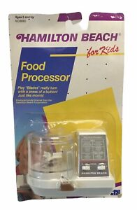 Vintage 1989 Hamilton Beach Toy Food Processor Age 5+ New RARE