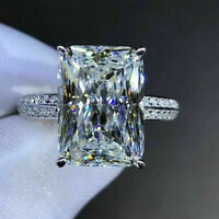 925 Silver Rings for Women White Sapphire Wedding Jewelry Pretty Gift Size 6-10