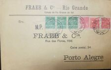 O) 1930 BRAZIL, OVERPRINT VARIG FLIGHT, LARGE PRINT, WITH THE FRANKING INCL, WIT