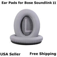 Ear Cushion Pads Pair Silver for Bose Soundlink II Headphones Free Fast Ship