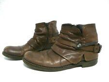 Boots en cuir Taille 40 marron bottines low pointure femme