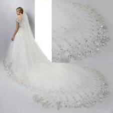 UK Extra Long 4 Metre 157 inch Cathedral Bridal Wedding Veil + COMB White Ivory