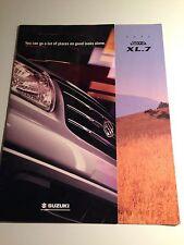 2001 Suzuki XL-7 10-page Original Sales Brochure