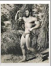 bodybuilder young Adonis LARRY SCOTT  Bodybuilding Muscle Photo B&W 1960s