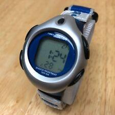 Timex Ironkids Lady Silver Blue LCD Alarm Chrono Quartz Watch Hours~New Battery