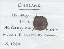 More details for 1413 to 1422 york mint henry v hammered silver penny in a used condition.