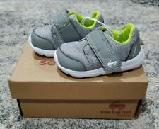 Toddler Shoes Size 4 See Kai Run Basics Stryker Sneaker Grey Slip On Unisex NIB