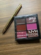 NYX Pro Lip Cream Palette The Plums (Sealed) & Double End Lip Brush