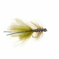 6 x Goldhead Blue Flash Damsel - Fly Fishing Trout Flies