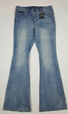 LL Bean Signature Womens Light Wash Flare Jeans Button Fly Size 8 Sold Out
